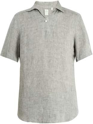 Finamore Palma short-sleeved linen shirt