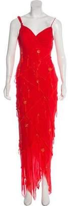Sue Wong Silk Evening Dress