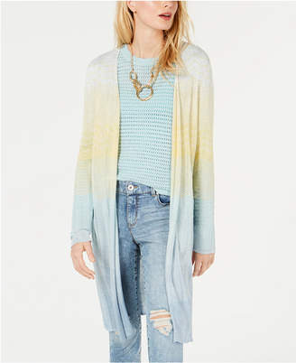 INC International Concepts I.N.C. Metallic Chevron-Knit Open-Front Cardigan, Created for Macy's