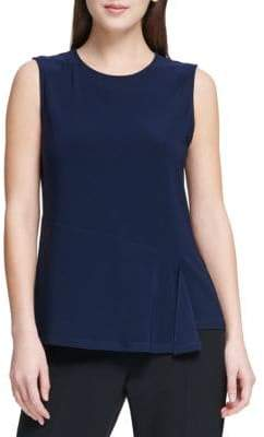 Donna Karan Sleeveless Draped Top