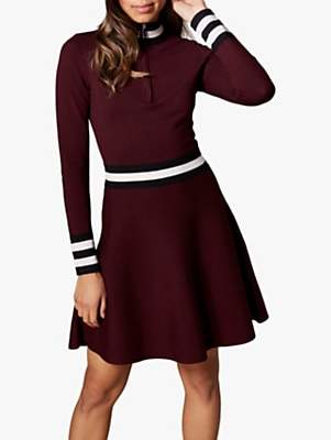 5b5017c5b7f Karen Millen Sporty High Neck Dress, Burgundy