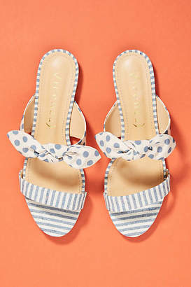 Vicenza Striped + Dotted Slide Sandals