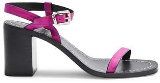 Topshop Strappy Leather Block Heel Sandals