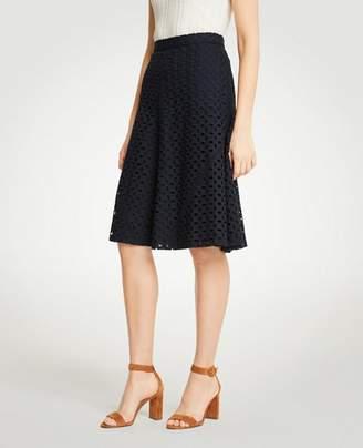 Ann Taylor Eyelet Full Skirt