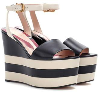 Gucci Leather platform sandals
