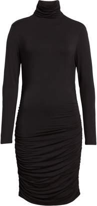 Halogen Side Ruched Turtleneck Dress