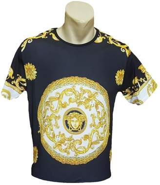 Versace Dear Garden Men's Crew Neck Regular Fit T-Shirt (L)