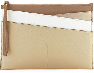 Neiman Marcus Colorblock Novelty Slim Portfolio