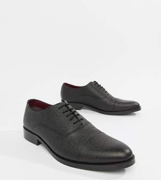 Scotch Grain (スコッチ グレイン) - ASOS DESIGN lace up shoes in black scotch grain leather