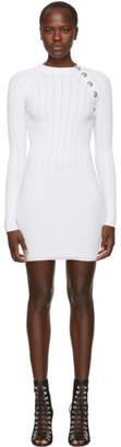 Balmain White Button Detail Dress