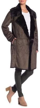 Muche et Muchette Diago Faux Suede & Faux Fur Trim Raincoat