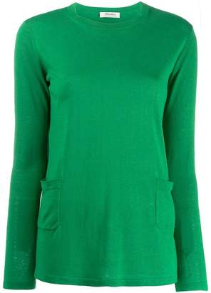 Max Mara 'S classic pullover with pockets