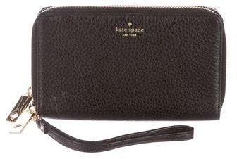 Kate SpadeKate Spade New York Pebbled Leather Wristlet