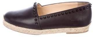 Christian Louboutin Studded Leather Espadrilles