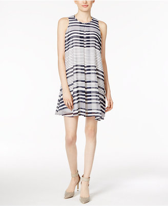 Calvin Klein Printed Pleated Shift Dress $119.50 thestylecure.com