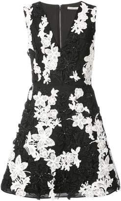 Alice + Olivia Alice+Olivia floral print v-neck dress