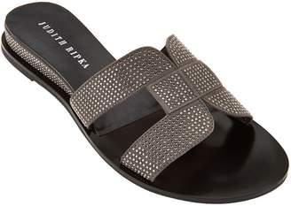 Judith Ripka Embellished Slide Sandals - Sloane