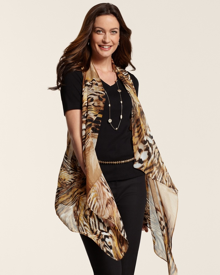 Chico's Dharma Fierce Animal Vest