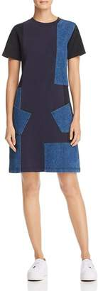McQ Denim Patchwork Dress