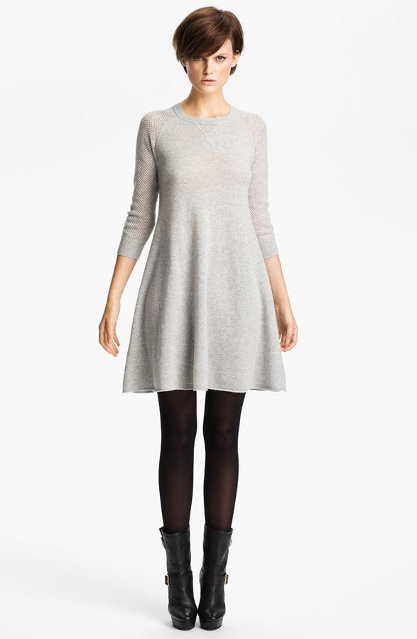 Autumn Cashmere Sweatshirt Dress