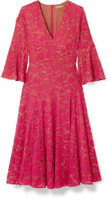Michael Kors Corded Lace Midi Dress - Red