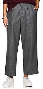 Officine Generale Women's Diana Wool Flannel Trousers - Light Gray