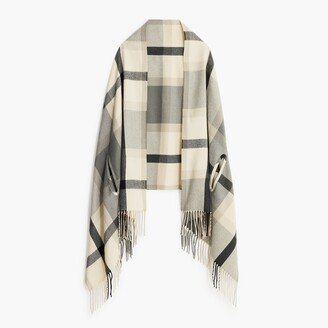 J.Crew Factory Plaid cape-scarf