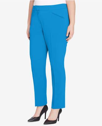 Tahari ASL Plus Size Crepe Trousers