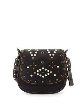Coach 1941 17 Western-Rivet Leather Saddle Bag, Black $450 thestylecure.com
