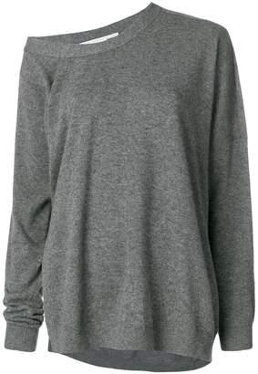 Stella McCartney asymmetric loose-fit jumper