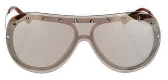 Valentino Rockstud Shield Sunglasses