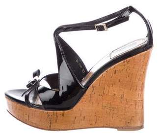 Christian Dior Patent Leather Platform Wedges