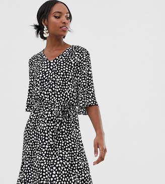 5fb27165686c Y.A.S Tall tie waist mini dress in polka dot
