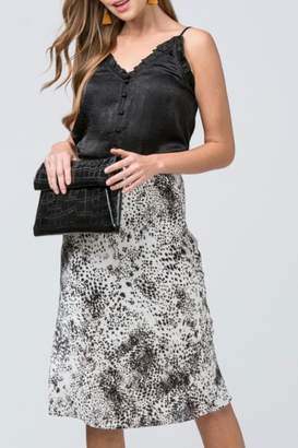 Entro Animal Print Skirt