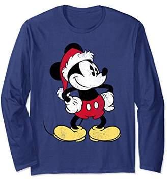 Disney Santa Mickey Mouse Long Sleeve T-shirt