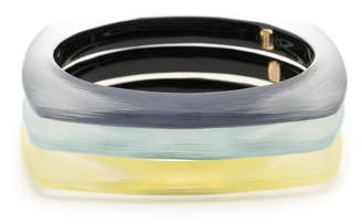Alexis Bittar Soft Square Bangle Bracelet 3 Stack Set
