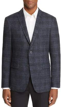 John Varvatos LUXE LUXE Mélange Plaid Slim Fit Sport Coat