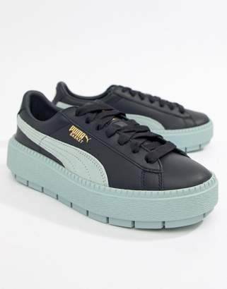 Puma Platform Trace Sneakers in blue