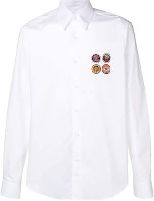 Roberto Cavalli patch shirt