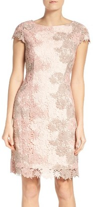 Women's Tahari Multicolor Lace Sheath Dress $168 thestylecure.com