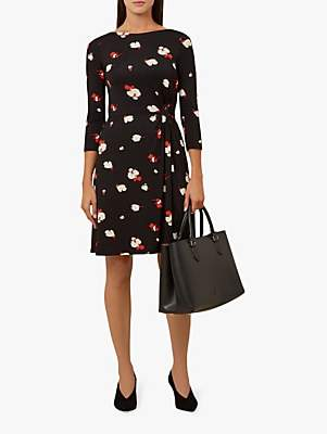 Hobbs Skye Dress, Black Red