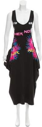Stella McCartney Draped 'No Fur' Maxi Dress