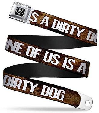 Dirty Dog BUCKLE-DOWN INC. Unisex-Adults Buckle-Down Seatbelt Belt Quote XL
