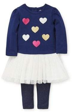 Little Me Baby Girls Two-Piece Heart Tutu Set