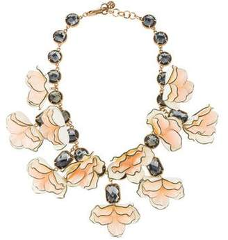 Tory Burch Crystal & Resin Collar Necklace