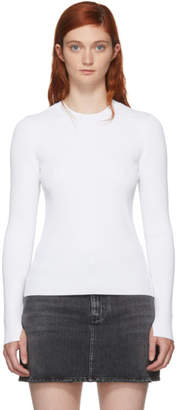 Rag & Bone White Ribbed Sylvie Sweater