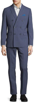 Tallia Striped Double-Breasted Wool Suit