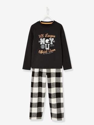 Vertbaudet Dual Fabric Pyjamas for Boys