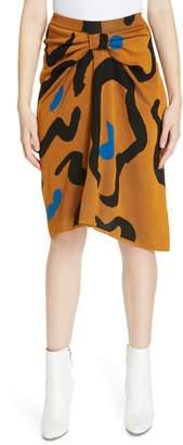 Christian Wijnants Kazu Leopard Jacquard Skirt