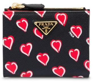 Prada Small printed Saffiano leather wallet